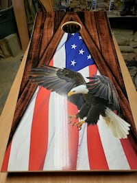 Eagle/American flag cornhole boards  Manchester, 03109