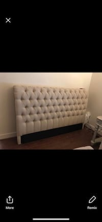 Sand colored tufted headboard  Fort George G Meade, 20755
