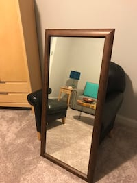 Solid Mahogany wood standing floor mirror Raleigh, 27609