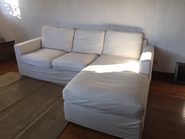Room Board York Sofa Chaise With Slip Cover