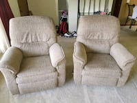 two gray fabric sofa chairs Joliet, 60435