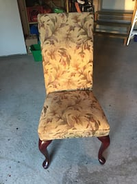 brown wooden-framed brown leaves padded chair Mississauga, L5N 7E7