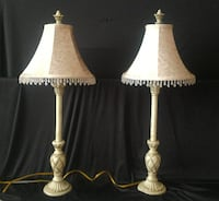 two white and brown table lamps Edmonds