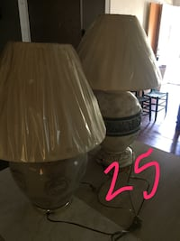 brown and white table lamp Greenville, 29605
