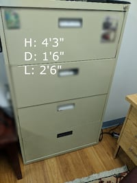 4-drawer metal file cabinet WASHINGTON