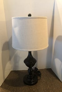 "Large 27"" black lamp with shade Woodbridge"