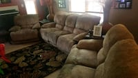 brown suede 3-seat recliner sofa Suitland-Silver Hill, 20746