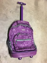Purple Rolling Backpack with Pullout Handle Virginia Beach, 23464