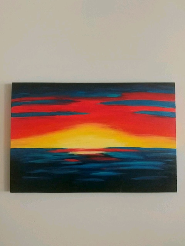 Lover of Sunsets...Acrylic painting 3555e01d-d4d1-4ad9-84c0-53d94e8ea5b5
