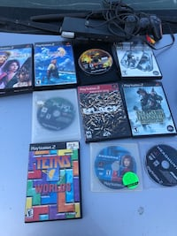 PS2 slim, controllers and games  Edmonton, T5W 4R4
