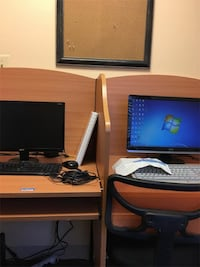 Two desk attached Computer Workstation Stafford