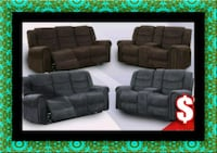Grey or chocolate recliner set 52 km