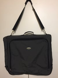 Black and gray Suit and dress bag