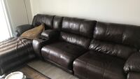 Luxury Double Reclining Leather Sectional Denver, 80246