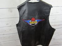 XXL leather motorcycle vest Yamaha patch on back Millbrae, 94030
