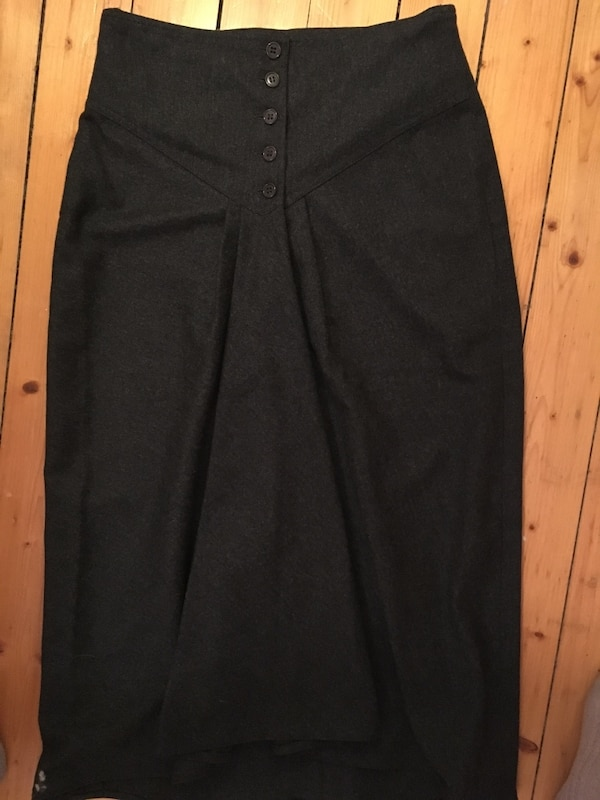 Max Mara wool skirt dark black brown