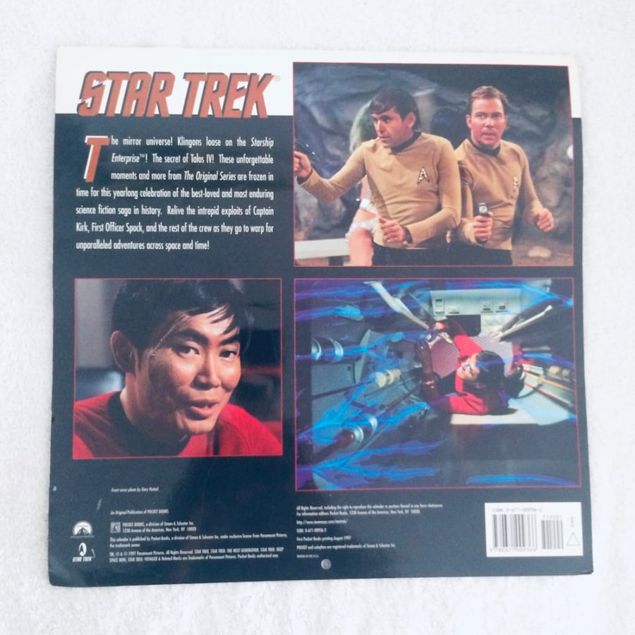 STAR TREK THE ORIGINAL SERIES 1998 CALENDAR d5f06129-9267-451b-bf66-005afdea0856