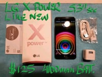 $125Firm Amazing UNLOCKED LG X POWER likeNew10/10 Pointe-Claire, H9R 3A3