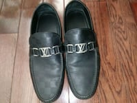 pair of black leather loafers St. Louis, 63104