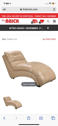 Leather chaise Lounger Calgary, T3K 6K9