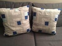 White and blue textile with pack null