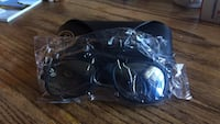 black-framed Ray-Ban sport sunglasses with black leather clamshell case Los Angeles, 90744
