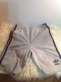 Adidas grey shorts: womens size medium