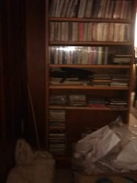 custom made solid wood bookcase Cd case whatever case