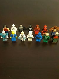assorted lego characters 15 each