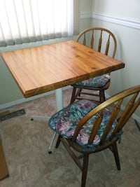 brown wooden table with chairs KELOWNA