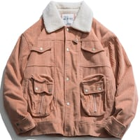 MAOGIMON LAPEL COLLAR STEREO POCKET CORDUROY JACKET