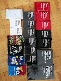 Cards against humanity and all expansion packs  Toronto, M4X 1N1
