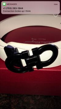 black Salvatore Ferragamo leather belt Woodbridge, 22193