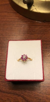Golden ring with rubies  Norfolk, 23511