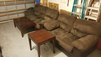brown suede 3-seat sofa and loveseat Hollywood, 33029