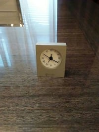 square beige wooden desk clock Toronto, M5V 3S1