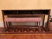 Wood console table with bench Louisville, 40243