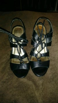 MADDEN GIRL BLACK LEATHER DRESS SANDALS  SIZE-7M Ontario, 91764