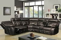 Brown Leather Sectional Corpus Christi