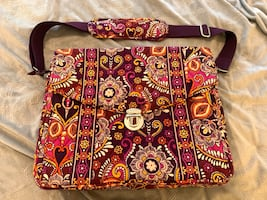 Vera Bradley Safari Sunset Messanger Bag Briefcase - Retired Pattern