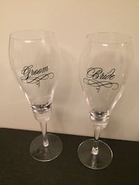 Bride and Groom Champaign Glasses  Mississauga