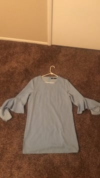 Sky blue long sleeved dress Modesto, 95355