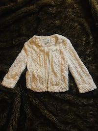 CUTE FURRY & SEQUINED FOREVER 21 JACKET SIZE SMALL !!