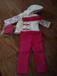 American girl doll snowsuit New in box with pink pants and pair of gloves Reston, 20191