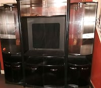 Black entertainment center w glass & lighting  Peoria, 61603