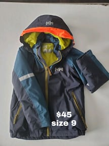 Helly Hansen Boys Winter Coat sz  9