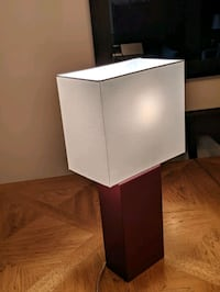 Table Lamp (Red Leather)