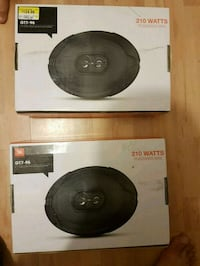 two black and gray subwoofer speakers Edmonton, T5R 4H2