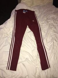 maroon and white Adidas track pants Edmonton, T6W 2J6