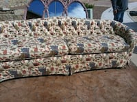 brown and black floral fabric sofa Horizon City, 79928